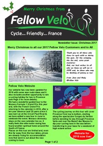 Newsletter Christmas 2017 Page 1